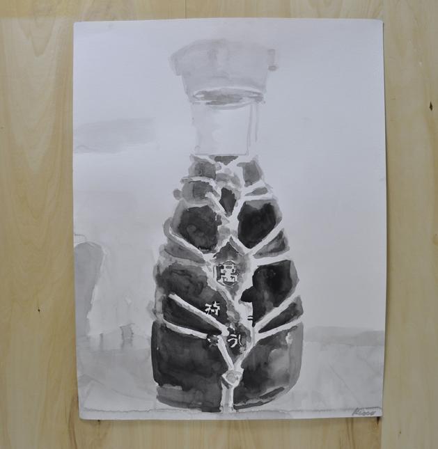 Shibari Shoyu, 2010, sumi ink on paper, 64.8 x 50.1 cm