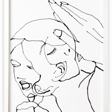 Baby Face, 2002,  acrylic latex on paper, 45.2 x 60.9 cm