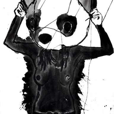 Sumi Ink on Paper by Rikki Kasso © 14