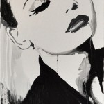 Street Chic Portraits by Rikki Kasso -silkscreen ink on canvas 2011 © 1