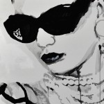 Street Chic Portraits by Rikki Kasso -silkscreen ink on canvas 2011 © 5