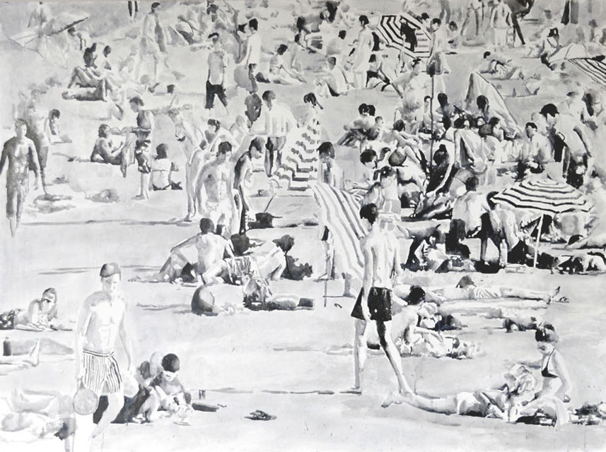 retrospect_galleries_rikki_kasso_This Beach Crazy 02_90 x 120 cm_sumi ink on board-©