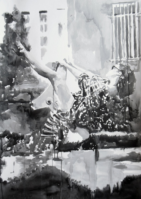 rikki_kasso_Living In My Dreams 2014_sumi ink on paper_86x61cm