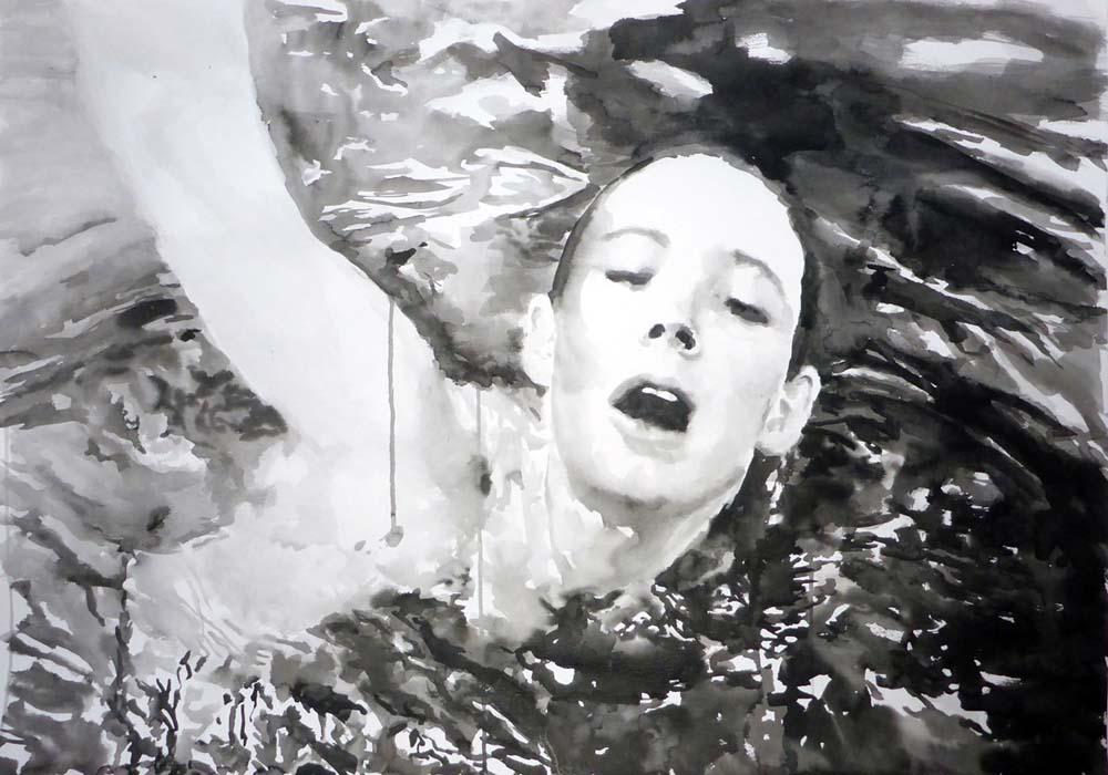 Black Water Sings_Rikki Kasso_2015_ sumi ink on paper
